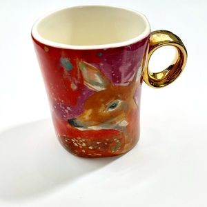 Anthropologie Fauna Deer Mug
